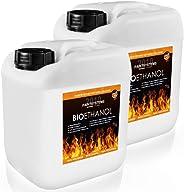 BIO ALKOHOL 100% 2 x 5 Liter - BIOETHANOL für Alkohol-Kamine