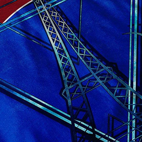 Paris Stilvoll Kunst Mode Wolke Turm Damen Schwarz S-2XL Muskelshirt | Wellcoda Rot