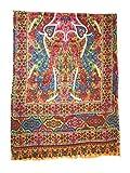 Pashtush Women's Stole Printed Design Stole, Kalamkari Design, Hand Printed, Pashmina Handfeel Stole Size (28 x80 inches)