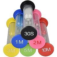 6 Colori Timer a Clessidra  Timer dell  39 orologio  30 Secondi   1 Minuto   2 Minuti   3 Minuti   5 Minuti   10 Minuti Set di Clessidra Colorati Ideali per la Casa  Gli Sport e i Giochi