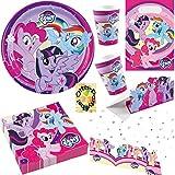My Little Pony Partyset 53tlg. für 8 Kinder Teller Becher Servietten Tischdecke Tüten Einladung