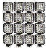 BRIGHTUM 16 X 48W 4.3inch 4560LM phare de travail LED lampe voiture SUV ATV tracteur pelleteuse camion grue 4x4 Work light Lampe à LED pour véhicule tout-terrain 12V 24V Lumière (16 pièce)...