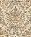 Muriva 2057010.05m'style italien Rana Damas de luxe épais à coller au mur papier peint'-Beige
