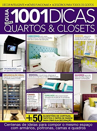 Guia 1001 Dicas Para Quartos & Closets Ed.01 (Portuguese Edition) por On Line Editora