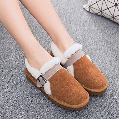 Women's Winter Warm cashmere coton épais antidérapant chaussures chaussures chaudes bottes de neige chaussures coton