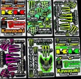 6 BLATT AUFKLEBER VINYL KL/ MOTOCROSS STICKERS BMX BIKE PRE CUT STICKER BOMB PACK METAL ROCKSTAR ENERGY SCOOTER