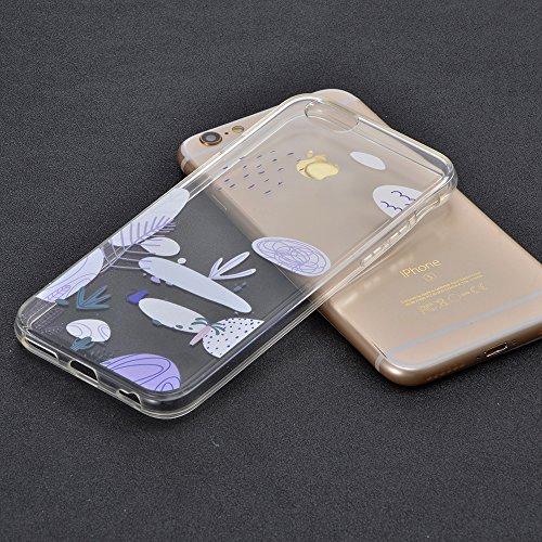 Sunroyal Crystal Case Hülle für >                iPhone 6S/ 6 (4,7&quot;)                < aus TPU Silikon mit Giraffe Design ,TPU Case Schutzhülle Silikon Crystal Kirstall Clear Case Durchsichtig - Schutzhülle Cover klar in GiraffeTra Pattern 03