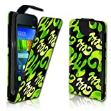 wicostar Vertikal Flip Style Handy Tasche Case Schutz Hülle Schale Motiv Etui Karte Halter für Wiko Rainbow Jam - Variante VER22 Design3