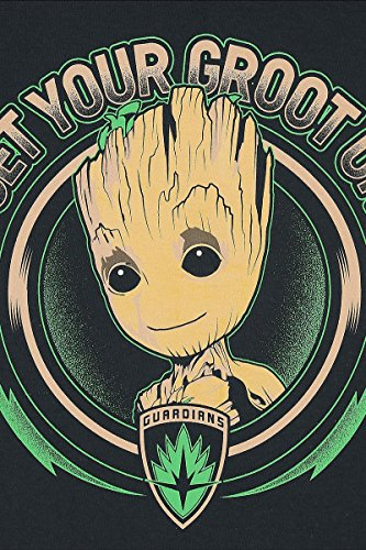 Guardians Of The Galaxy 2 - Get your Groot on Girl-Top schwarz Schwarz