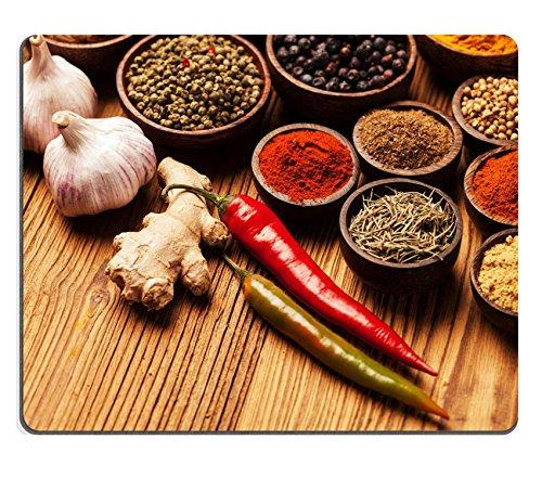 Preisvergleich Produktbild Liili Mauspad Naturkautschuk Mousepad Bild-ID: 28814174Gewürze und Kräuter in Holz Schalen Speisen und Küche Inhaltsstoffe