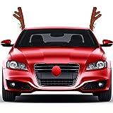 Weihnachten Elchgeweih /& Nase Rentier Auto BSTiltion Rentiergeweih Auto Fahrzeug Auto Weihnachtsschmuck Autokost/üm F/ür Auto Fenster Dach und Frontgrill Auto Xmas Zubeh/ör