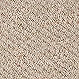Schlingen-Teppichboden in der Farbe Beige | weiche & strapazierfähige Auslegeware | zugeschnittener Bodenbelag | Meterware in der Größe 750 x 500 cm | gemütliche Teppichfliesen