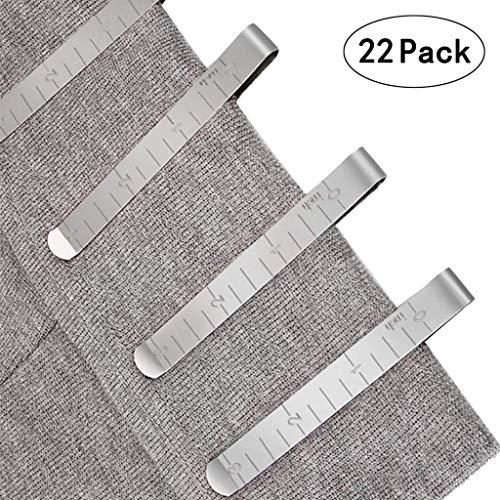Dapei Klammer Nähzubehör Stoffklammern für Nähen, Metall Patchwork Buckle Multi-Use Nähmaschinenhelfer Kurzwaren, 11,5 x 7,5 cm, 22 Stück