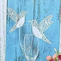 JZK® 50 x Tarjeta de nombre lugar marca tabla invitaciones romántico tallado deco para boda