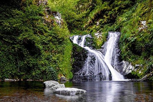 Artland Wandbilder selbstklebend aus Vliesstoff oder Vinyl-Folie Marc Alexander Kunze Die Allerheiligen-Wasserfälle im schönen Schwarzwald Landschaften Gewässer Wasserfall Fotografie Grün C4QP
