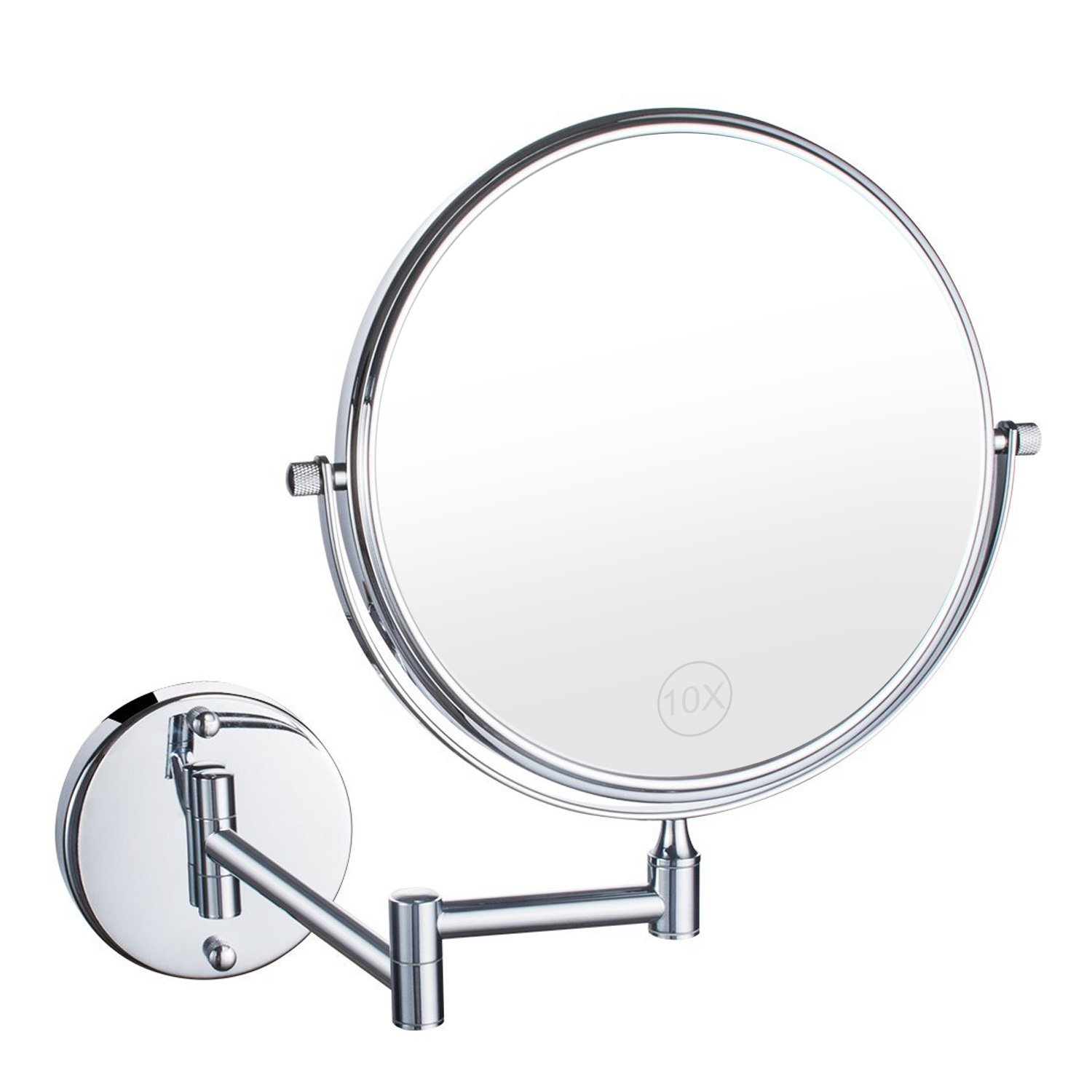 UniqueBella 10X Bathroom Vanity Magnifying Mirror, Makeup Round Wall ...
