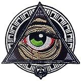 Parche termoadhesivo para la ropa, diseño de Patrones geométricos mayas Todos viendo el ojo sangriento