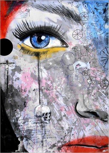 Posterlounge Acrylglasbild 120 x 170 cm: The Wheels of Dreaming von Loui Jover - Wandbild, Acryl Glasbild, Druck auf Acryl Glas Bild