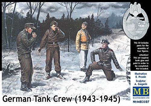 Masterbox 1: 35Maßstab 1943-1945Kit Keine 2,5cm Tank Crew Construction Kit (grau) -