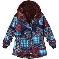 Btruely Kapuzenjacke Damen Groß Größe Outwear Winter Parka Lange Wintermantel Warm Mantel mit Kapuze Winterjacken