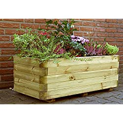 "'INGO-Maceta de madera Jardinera (Macetero (kesseldruckimprägniert Jardín Terraza ""montado de jardín Mundo cerrojo Berger"