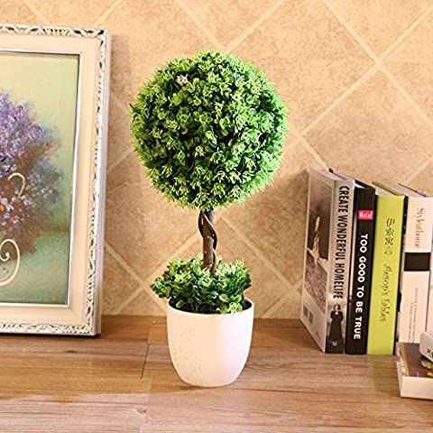 Beata.T Künstliche Blumen Set Simulation Green Plant Potted Decorative Tree