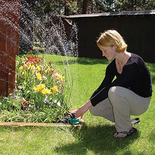 Ariymap Water Sprinkler Garden Automatic Multi-head Sprinkler Rotary Sprinklers Lawn Irrigation Grass Sprayer (Grün, 01) -