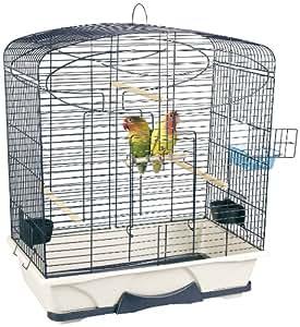 savic carmina 50 cage pour grand oiseau bleubeige 64 x 38. Black Bedroom Furniture Sets. Home Design Ideas