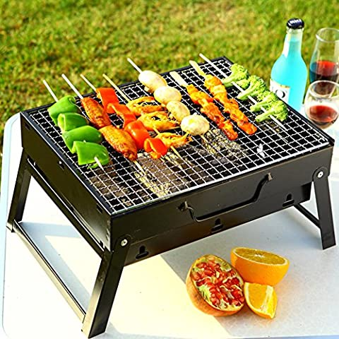 Portable Faltung Grube,Im freien Camping Holzkohle Grill Barbecue Feuerstelle für Dichtes Auffahren, Wandern, Kochen, (Feuerstelle Im Freien Tabelle)