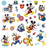 Thedecofactory 539181 Disney Mikey Mouse Clubhouse ROOMMATES REPOSITIONNABLES (31 Stickers), Vinyle, Multicolore, 104 x 26 x 2,5 cm