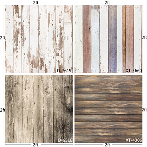 fotohintergrund holz Huayi Photography Background Wooden Background Lining Backdrop Photo Studio Props Small Size 60 x 60 cm Lw-008