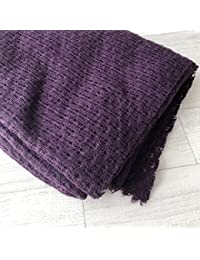 Fond beanbag texturé prune dark, taille au choix 150 x 100 cm,150 x 150 cm,200 x 150 cm