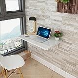 AJZGF Klappbarer Wand-Schreibtisch Regal (Farbe : Weiß, größe : 60cm*50cm)