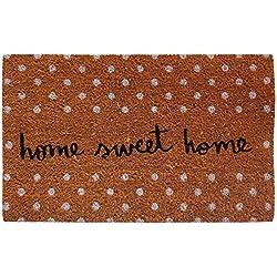 Felpudo diseño Sweet Home. Antideslizante. Marrón, 40 x 70 cm