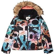 Roxy Jet Ski Girl Jk Chaqueta para Nieve, niñas, Negro (Anthracite Pattern_4)