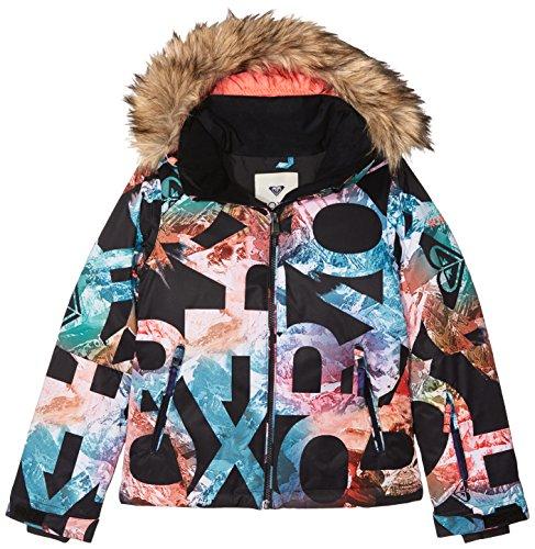 Roxy Damen Girl JK Jet Ski-Snow Jacket 8-16, Schwarz(anthracite), 8/S (Damen Jet Roxy)