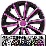 (Farbe und Größe wählbar) 15 Zoll Radkappen GRAL Bicolor (Schwarz-Weiß) passend für fast alle Fahrzeugtypen – universal
