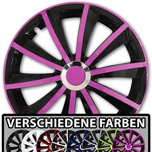 Pink Jeep-fußmatten ((Farbe & Größe wählbar) 15 Zoll Radkappen GRALO Pink passend für fast alle Fahrzeugtypen – universal)