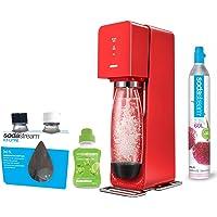 Sodastream SOURCE Machine à eau pétillante et soda rouge + pack 2 bouteilles Fuse 0.5L + 1 concentré limonade 500ml