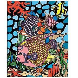 """Colorvelvet Sistema de Dibujo para Colorear Peces"""", 47x 35cm"""