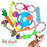Hundespielzeug Kauspielzeug Interaktives Spielzeug Baumwollknoten Spielset für Hunde Welpen