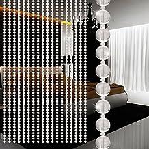 Cortina de cuentas de cristal hunpta lujo salón o dormitorio ventana puerta decoración de boda