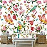 Best Whole House Worlds Bird Houses - YUANLINGWEI Mural Wallpaper Custom Birds Flowers Pattern Wallpaper Review