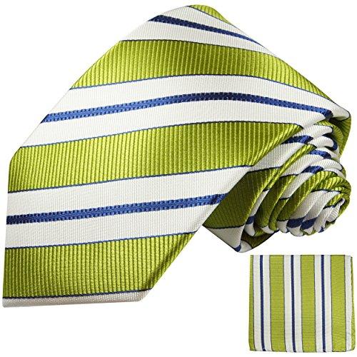 Vert bleu rayé ensemble de cravate 2 Pièces ( longueur 165cm )