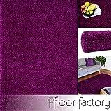 floor factory Hochflor Shaggy Teppich Colors violett 120x170cm - Pflegeleichter und günstiger Langflorteppich