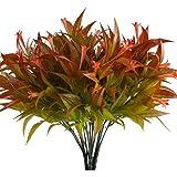 NAHUAA 4pcs Plantas Simulación Plantas de Plástico Plantas de Jardin Ramas Artificiales Rojo Arbustos Exterior Interior para