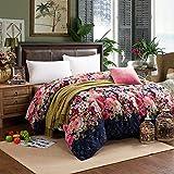 Baumwolle Bettbezug Luxuriöses Weich Komfortabel Zip Light Atmungsaktiv Nachhaltige Verhindern Sie Allergie-J 220x240cm(87x94inch)