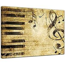 """Bilderdepot24 Cuadros en Lienzo """"Música de Grunge"""" - 70 x 50 cm - listo tensa, directamente desde el fabricante"""