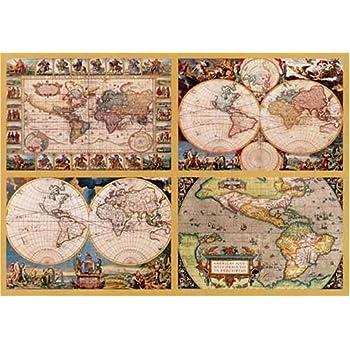 Ravensburger puzzle 18240 pieces 4 historic world maps amazon ravensburger puzzle 18240 pieces 4 historic world maps sciox Choice Image