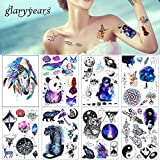 #2: glaryyears 1 Sheet Beauty Decal Waterproof Tattoo Sticker Cute Colored Horse Animal Pattern Women Girl Body Art Temporary Tattoo Removable